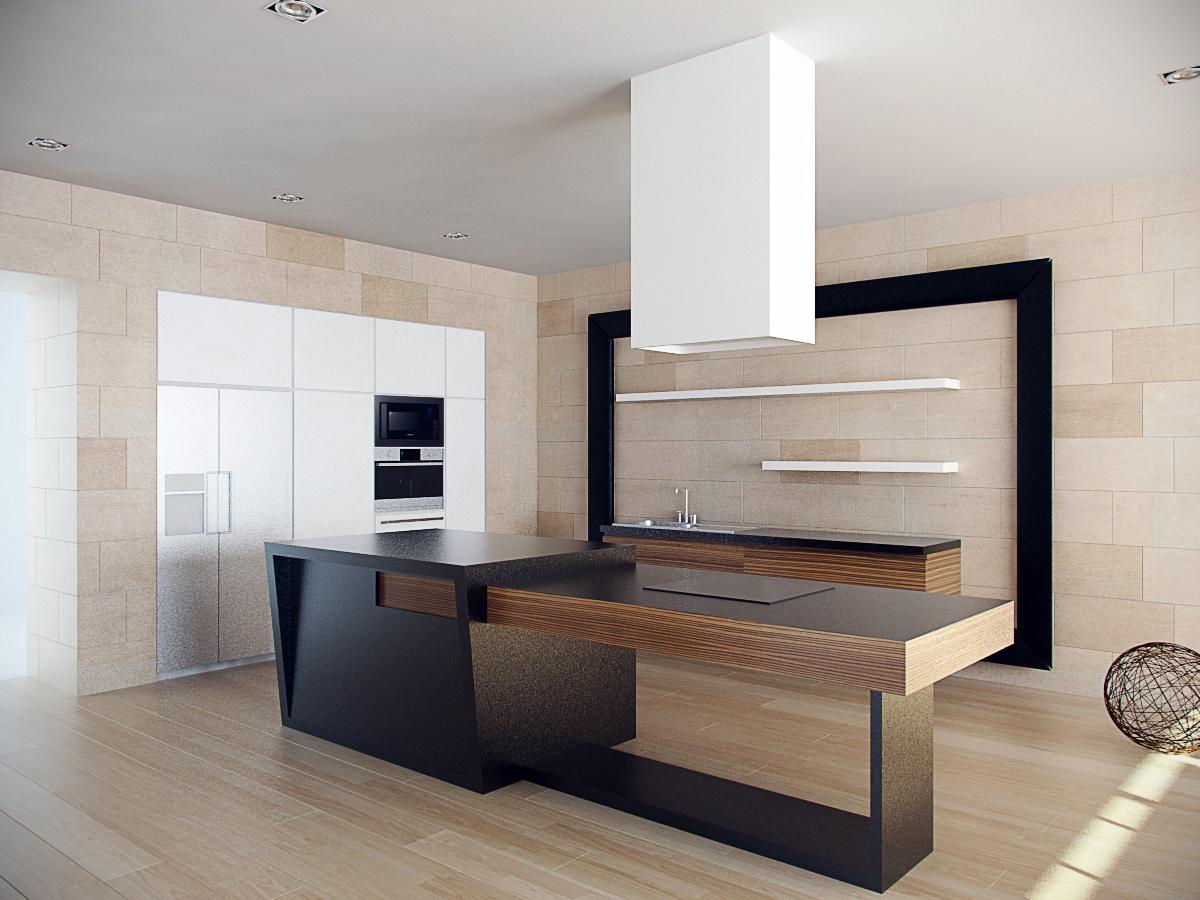 duza jadalnia i kuchnia projekt wnetrza luksusowego architekt warszawa