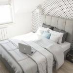 projekt białej i jasnej sypialni architekt wnętrz w warszawie