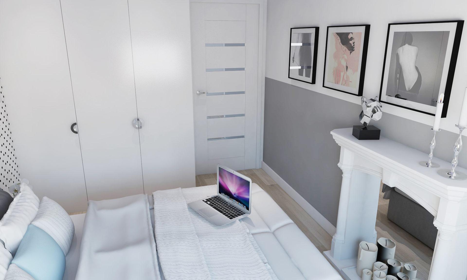 projekt wnętrza białe wykończenie architekt twojkwadrat